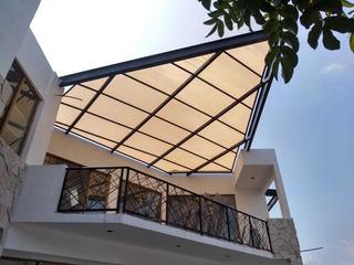 Velarios En Estructuras Con Malla Arquitectónica Al 95% Somb