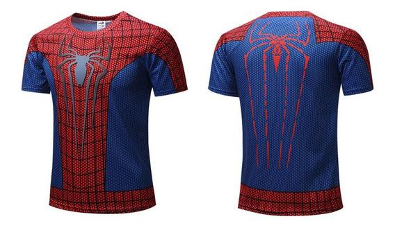 Playera Deportiva Spiderman El Hombre Araña Para Gym Fitness