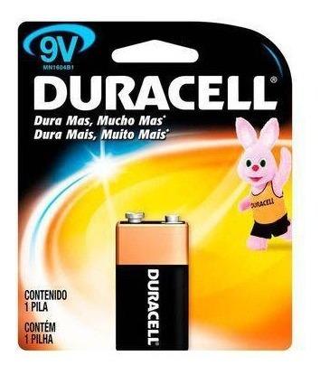 Bateria 9v Duracel Original Kit Com 4 Unidades