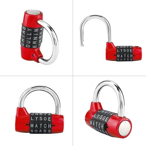 cerradura de equipaje ideal para maleta port/átil Eagle Candado de combinaci/ón de 4 d/ígitos cerradura de c/ódigo reajustable taquillas