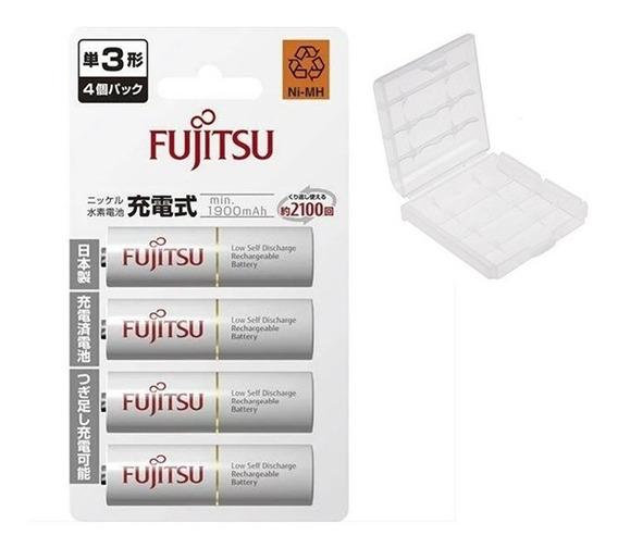 4 Pilhas Aa Fujitsu 1900/2000mah Qualidade Eneloop 2100x