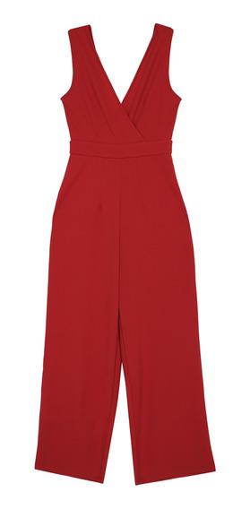 Jumpsuit Wide Leg Cuello En V De Mujer C&a 1057076
