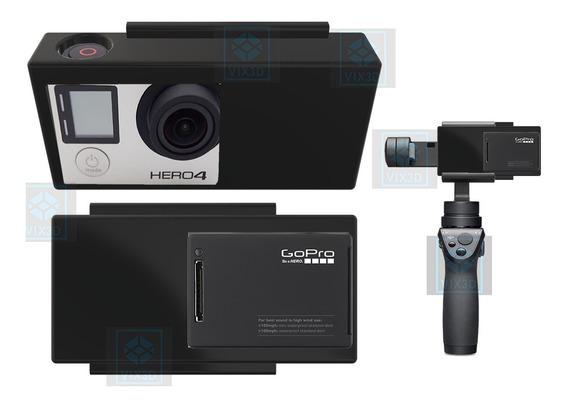 Adaptador Case P/ Gopro 3 E 4 Osmo Mobile 1 E 2 E Zhiyun