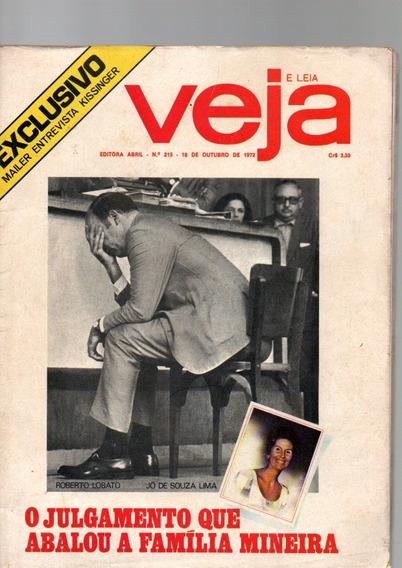 Revista Veja Exclusivo Entrevista Kissinger Out/1972 #215