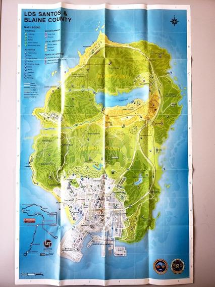 Mapa Original Los Santos Gta V - Frete Grátis