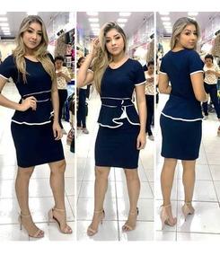 Vestido Moda Evangelica Tubinho Vies Social Roupas Femininas