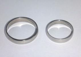 Aliança Anel Aço Inox Cirúrgico Namoro Compromisso Prata