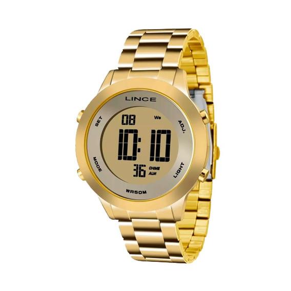 Relógio Feminino Lince Dourado