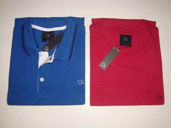 Camisa Polo Ogochi Original + Camisa Gola Careca