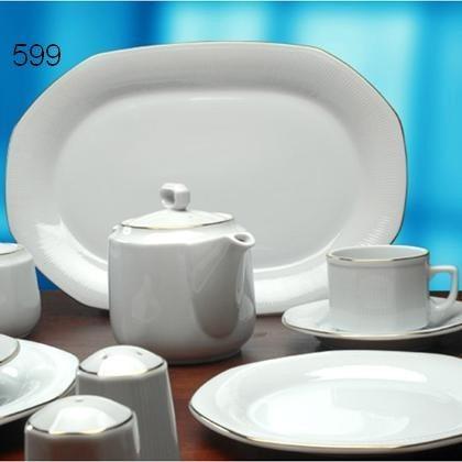 Fuente Oval Grande Unidad Porcelana Vajilla Cocina Tsuji 599