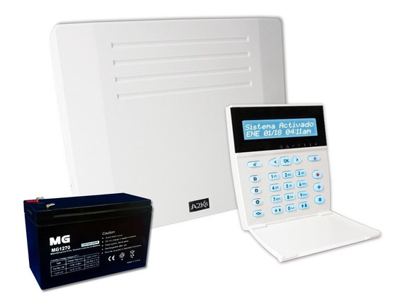 Alarma Cableada 32 Zonas Alonso Con Teclado Bateria 12 Ctas