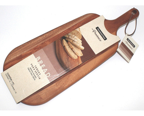 Tabla De Madera Para Servir Pan Quesos Provence Tramontina