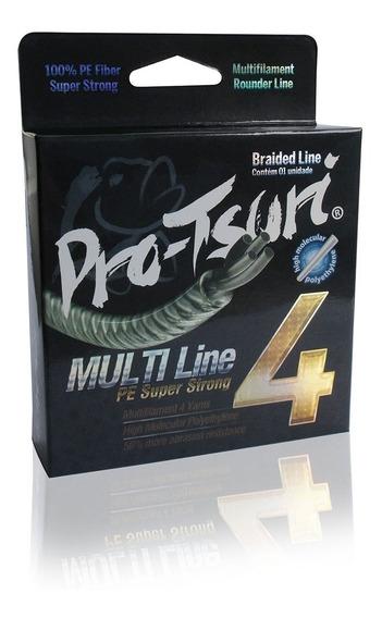 Linha Multifilamento Multi 4 Fios - 6lb 2,7kg - 0,10mm - 137m - Cor Moss Green Verde Musgo