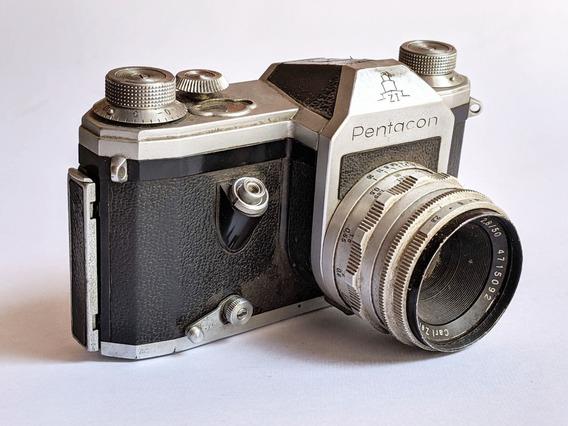Antiga Pentacon Zi 35mm Slr Camera Analogica - Raríssima