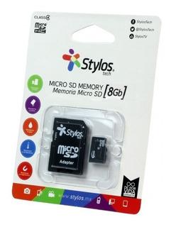 Memoria Micro Sd Stylos 8 Gb Stmsd81b