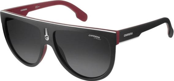 Lentes Gafas De Sol Carrera Ccp90 Flagtop Black & White 60mm
