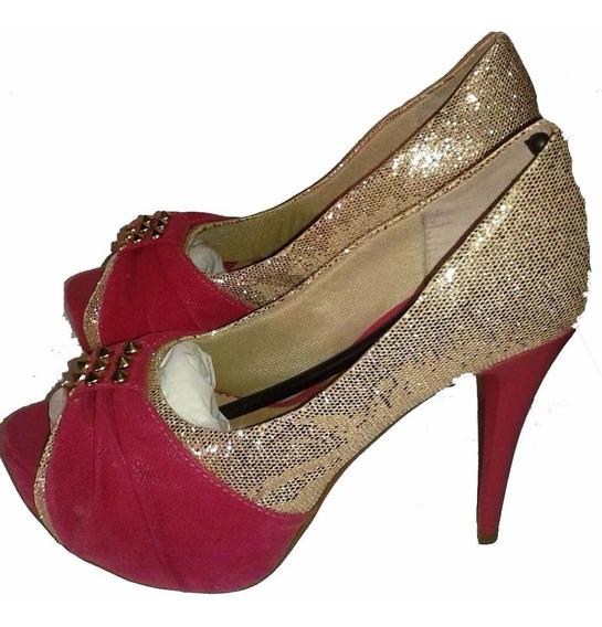 Peep Toe Salto Alto Rosa - Vera Calçados (3)