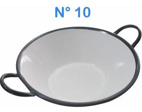 Tacho Esmaltado N°10 Para Frituras 1,0 Litro Pastel Batatas