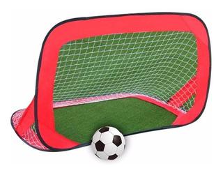 Arco Futbol Grande Autoarmable Con Red Faydi Mundo Manias