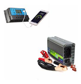 Inversor Conversor 12v 220v 1000w E Controlador 10a Solar