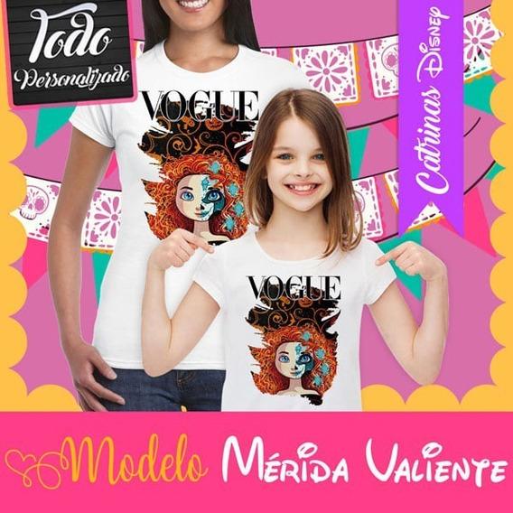 Playera Catrina Princesa Disney Valiente