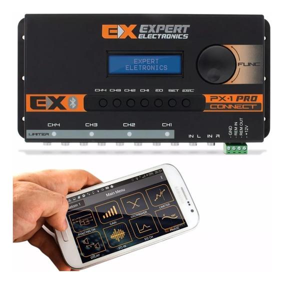 Processador Banda Expert Px1 Connect Bluetooth Digital Crossover Px 1 Px-1 Equalizador Som Automotivo 15 Banda 4 Canais