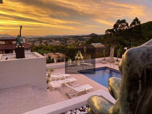Imagem 1 de 23 de Casa Espetacular Á Venda No Alphaville 8, Santana De Parnaíba. Com 6 Suítes E Lazer! - Ca2498