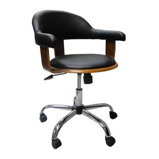 Cadeira De Escritório Walnut Com Rodízios Wood Fullway