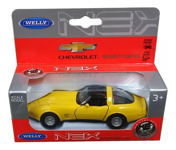 Chevrolet Corvette Coupe 1982 - Welly - Escala 1:36