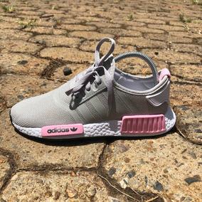 Tênis adidas Nmd Runner R1 Cinza/rosa (promoção) - Feminino