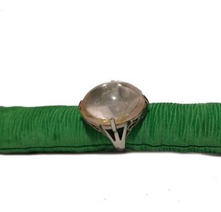 Anel Quartzo Rosa Prata 950