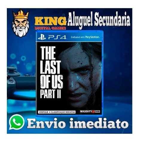 Aluguel 10 Dias The Last Of Us Parte 2 Mídia Digital Ps4