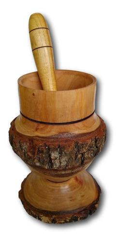 Copo De Madeira Com Amassador Para Caipirinha  Ref: 0300