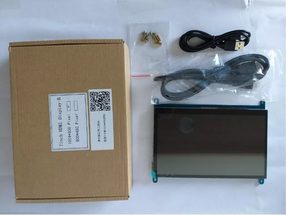 Display Lcd Touch Hdmi 7 1024x600 Raspberry Pi 3 Pi 4 + Case