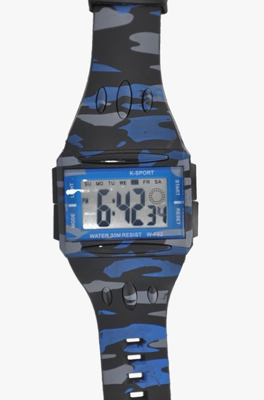 Reloj Sport Digital Cronometro Camuflaje Deportivo