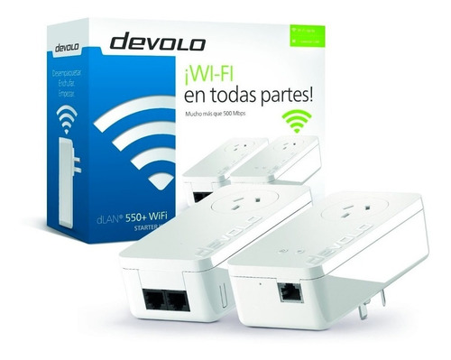 Extensor Devolo Dlan 550+ Wifi Starter Kit + Red Electrica