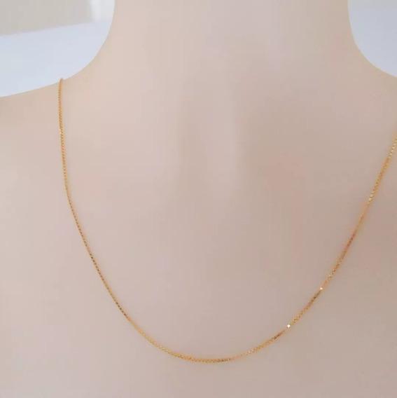Corrente De Ouro 18k 750 Cordão De 40 Cm Cordão Luxo