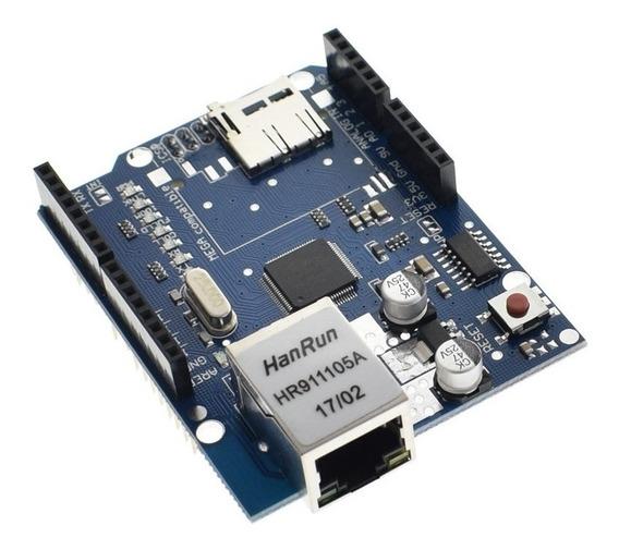 Ethernet Shield Compativel W5100 Sd Card Uno R3 - Mega 2560