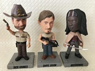 The Walking Dead Figuras De Rick Daryl Y Michone - Ring Raje
