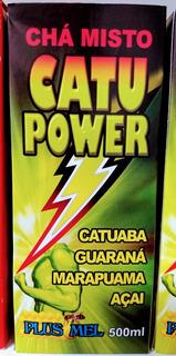 2 Frascos Energético Natural Chá Misto 500 Ml Catu Power