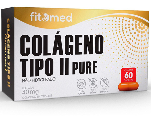 Colageno Tipo 2 Pure 40mg 60cps Fitomed