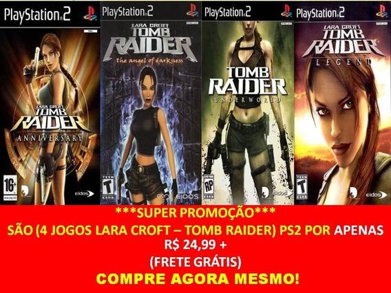 Tomb Raider Anniversary Para Playstation 2 (kit 4 Jogos Ps2