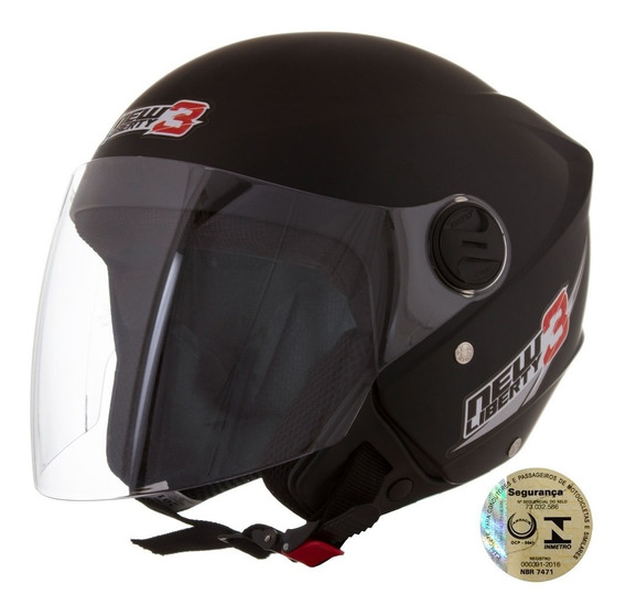 Capacete New Liberty Three Preto Fosco Pro Tork