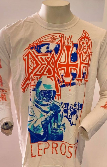 Death Leprosy Blue & Red (white) Long Sleeve T-shirt