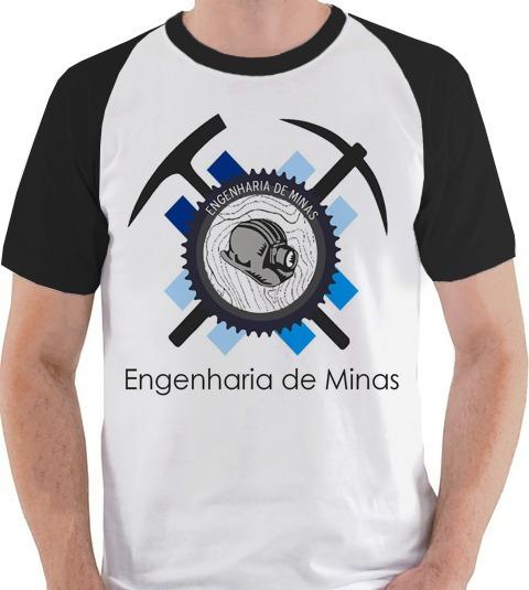Camiseta Engenharia De Minas Graduação Camisa Blusa Raglan