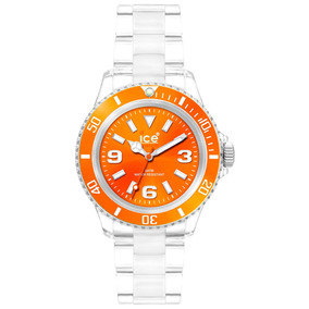 Relógio Chromatic Laranja Pequeno Caixa 38 Mm Ice-watch