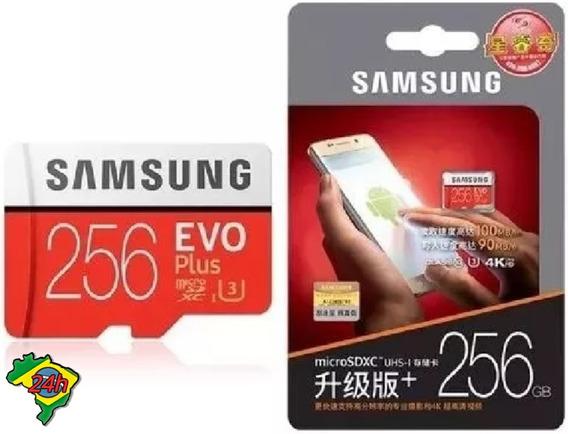 Cartao Memoria Samsung 256gb Micro Sd Evo Plus 100mb/s Hd 4k