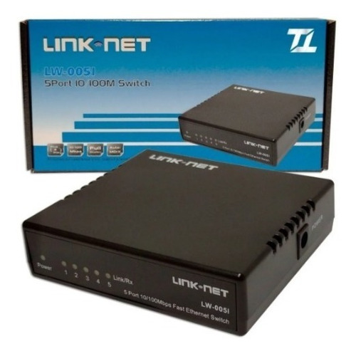 Imagen 1 de 3 de Switch 5 Puertos 10/100 Mbps Link Net Escritorio Lw-0051