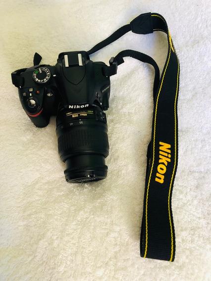 Camara Nikon D3200 + Lente 18-55mm