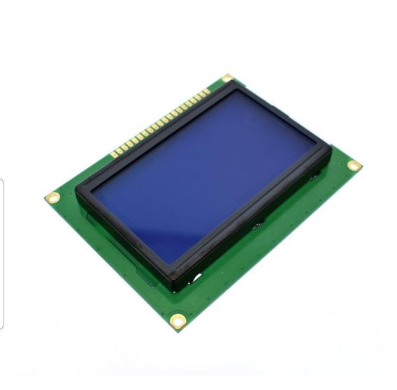 Display Lcd Gráfico 128x64 Backlight Azul (cod.54)